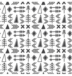 Tribal hand drawn background geometric ethnic vector