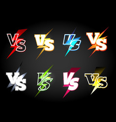 Versus or vs confrontation labels vector