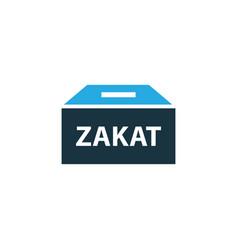 Zakat colorful icon symbol premium quality vector