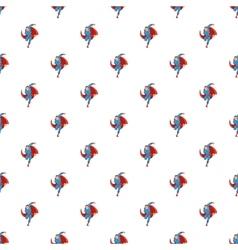 Superhero runs pattern cartoon style vector