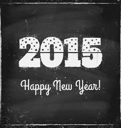 2015 chalk vector image