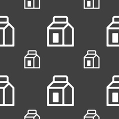 Milk juice beverages carton package icon sign vector