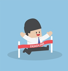 Businessman crossing the deadline vector