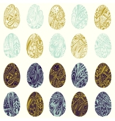Set of colorful easter eggs eps 8 vector