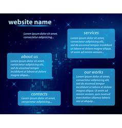 Dark blue template of website vector
