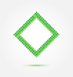 Abstract symbol made of many green crosses vector