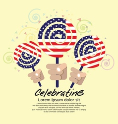 America flag lollipop festival concept eps10 vector
