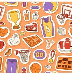 Basketball sport seamless pattern vector