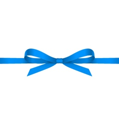 Blue bow vector