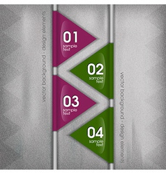 business triangles purple green with text vector image vector image