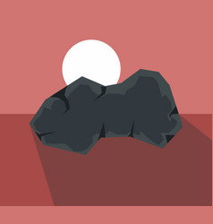 Cartoon stone with shadow vector