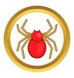 Computer bug icon vector