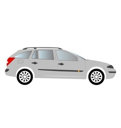 Estate car colored vector