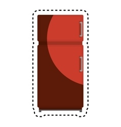 Fridge kitchen appliance isolated icon vector
