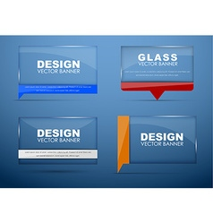 Glass banners with quote bubble vector image vector image