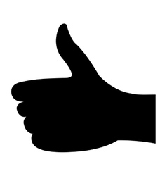 Hand human like isolated icon vector
