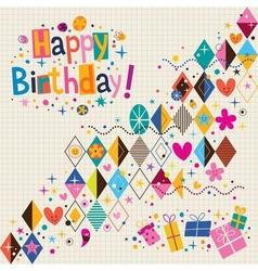 Happy Birthday 10 vector image vector image