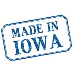 Iowa - made in blue vintage isolated label vector