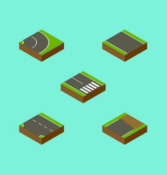 Isometric way set of without strip unfinished vector