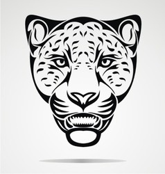 Jaguar head vector