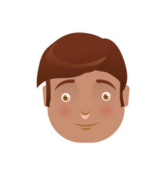 Kid child boy avatar head vector