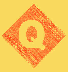 Letter q sign design template element red vector