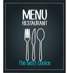 menu restaurant isolated icon design vector image