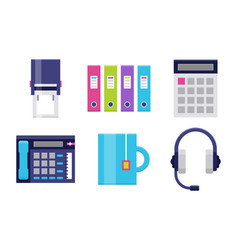 Modern icons set for office vector