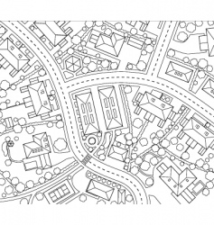 Neighborhood outline vector