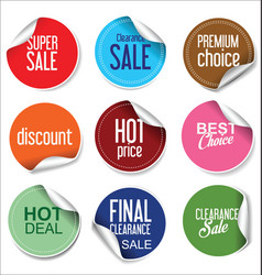 Sale stickers and tags collection 2 vector
