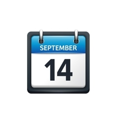 September 14 calendar icon vector