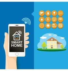 Smart house control concept vector