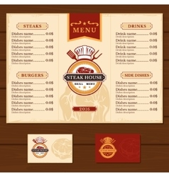 Template for the restaurant menu vector image