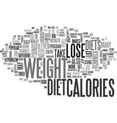 what to do if you cant lose weight text word vector image vector image