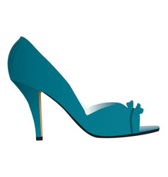 Woman high heeled shoe vector