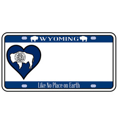 Wyoming state license plate vector