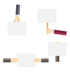 White paper blank template in the hand flat vector