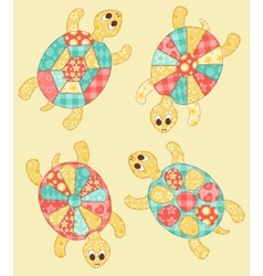 Set of turtles vector image