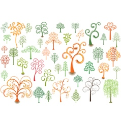 Cutly trees vector