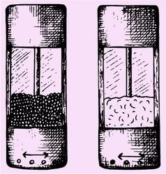 Salt pepper grinders vector