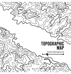 Contour topographic map  geography wavy vector