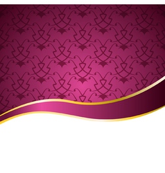 Decorative background with a pattern and a ribbon vector