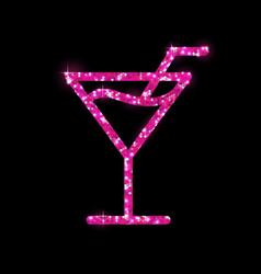 Golden cocktail flat icon design cosmopolitan vector
