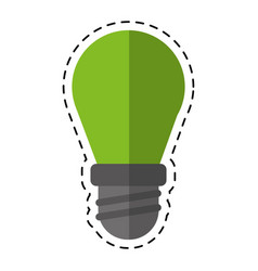 cartoon bulb lamp light environment vector image