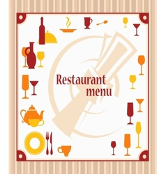 Cover of restaurant menu vector