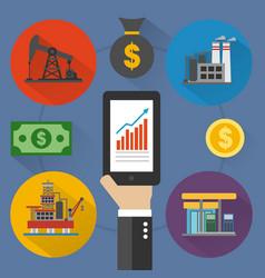 Oil business modern design flat vector
