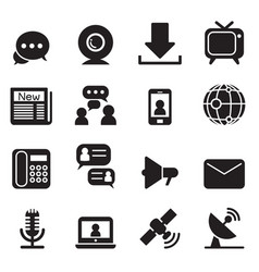Communication technology icons vector