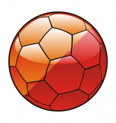 Butane flag on soccer ball vector
