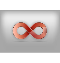 Infinity red vector