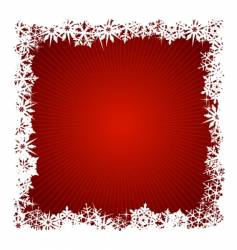 Square red snowflake background vector